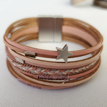 Leather Star Cuff Bracelet - The Pearl & Stone Jewelry