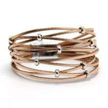 Crisscross Leather cuff - The Pearl & Stone Jewelry