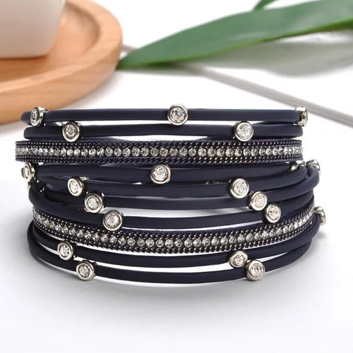 Sparkling Bling Wrap Bracelet - The Pearl & Stone Jewelry