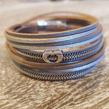 Leather Wrap Heart Bracelet