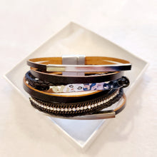Bling bar cuff Bracelet - The Pearl & Stone Jewelry