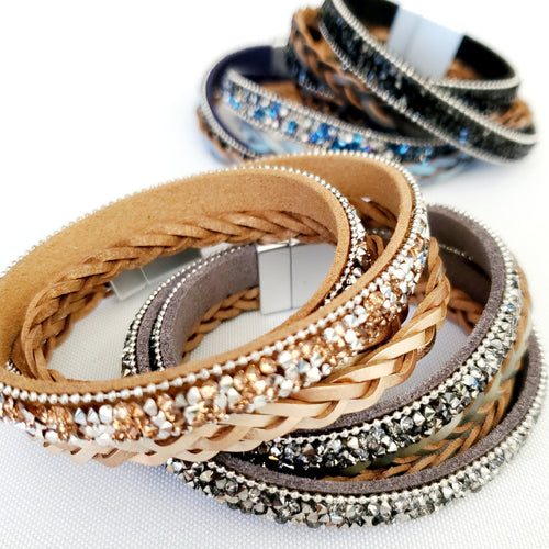 Braided Bling Wrap Bracelet