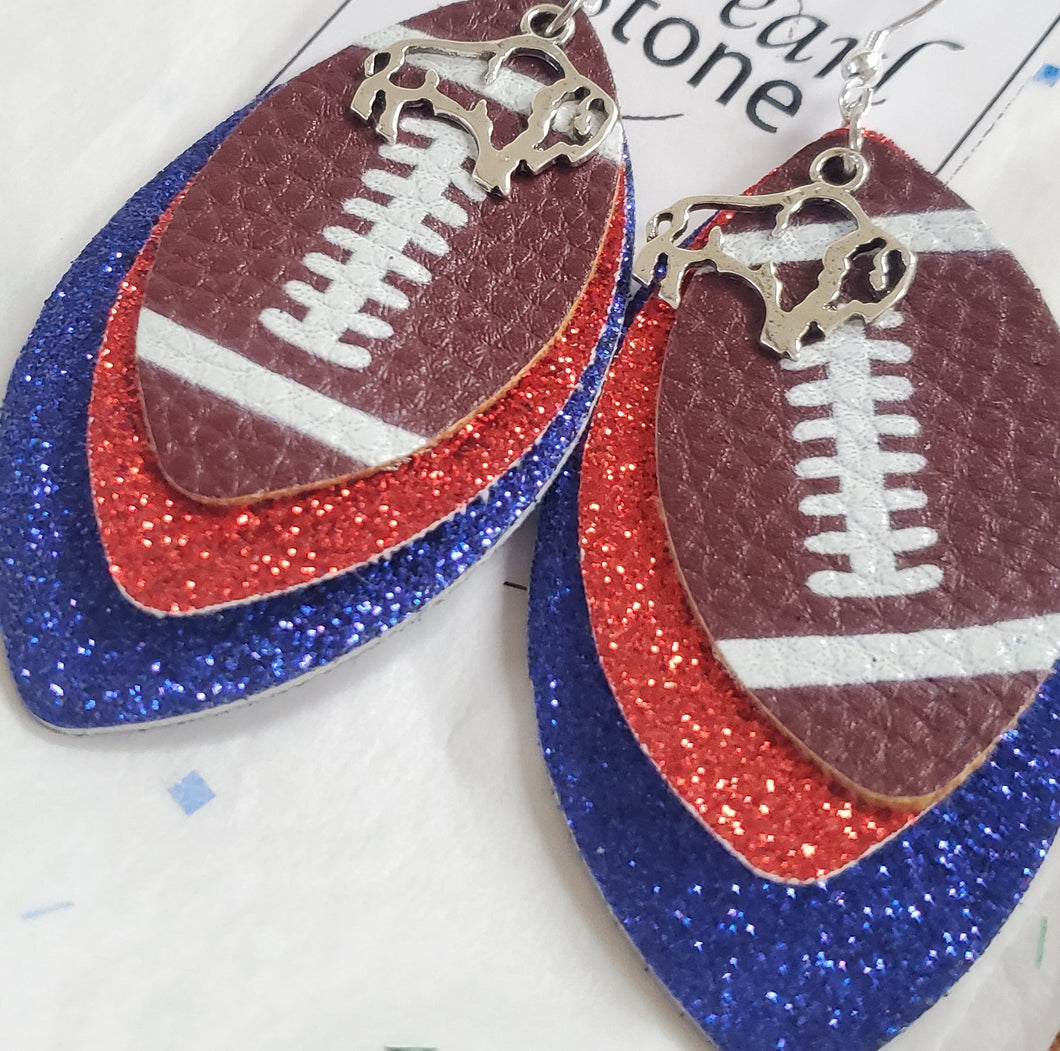 Buffalo Football Earrings