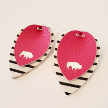 Buffalo striped earrings