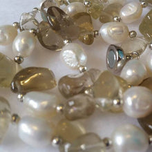 Golden Smokey Quartz & Freshwater Pearl - The Pearl & Stone Jewelry