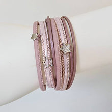 Sparkling Star Leather Wrap Bracelet - The Pearl & Stone Jewelry