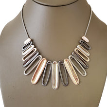 Graduated multi tone Rhodium necklace - The Pearl & Stone Jewelry