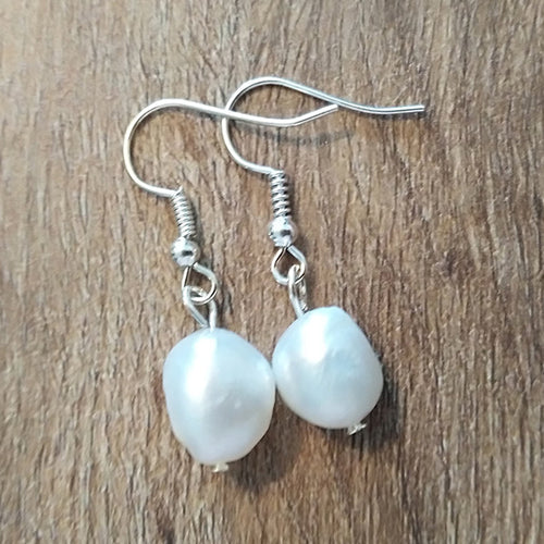 White Freshwater Pearl Earrings - The Pearl & Stone Jewelry