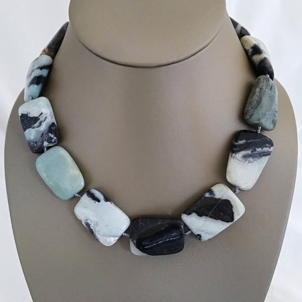 Amazonite Gemstone Statement Necklace - The Pearl & Stone Jewelry