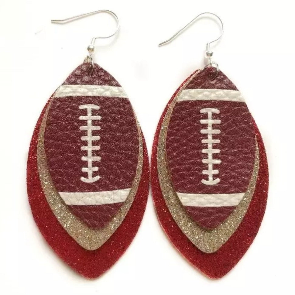 Kansas City Football Earrings