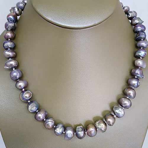 Lavender Silver Freshwater Pearl Necklace - The Pearl & Stone Jewelry