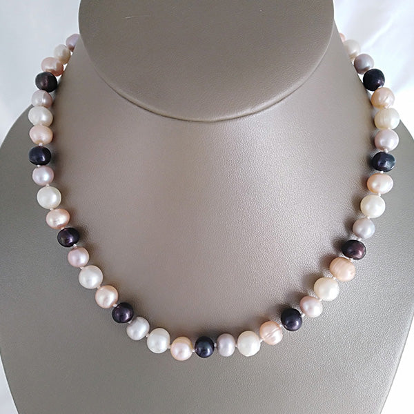 Round Multi-color Freshwater Pearl Necklace - The Pearl & Stone Jewelry
