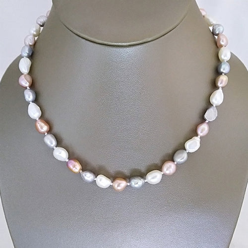 Delicate Multi-Colored Freshwater Pearl Necklace - The Pearl & Stone Jewelry
