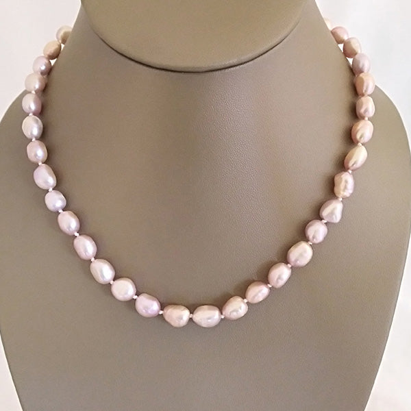 Soft Pink Freshwater Pearl Necklace - The Pearl & Stone Jewelry