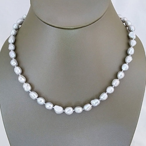 Soft Silver Freshwater Pearl Necklace - The Pearl & Stone Jewelry