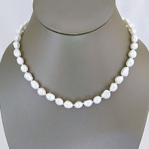 Classic White Freshwater Pearl Necklace - The Pearl & Stone Jewelry