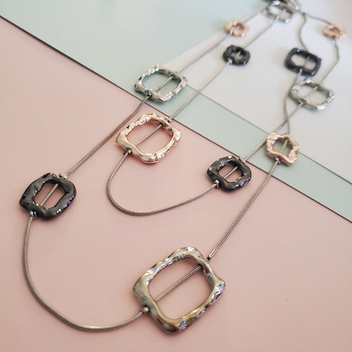 Quinn's Layered Square Necklace