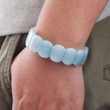 Clouded Aquamarine gemstone bracelet - The Pearl & Stone Jewelry