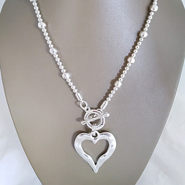 Toggle Heart Necklace - The Pearl & Stone Jewelry