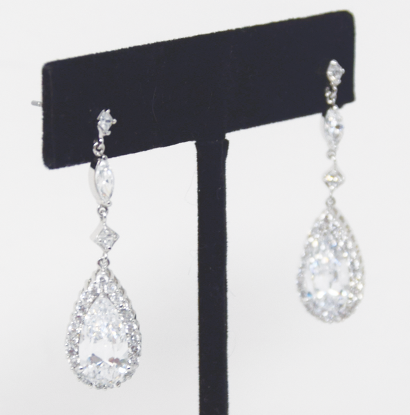 Earrings Silver Cubic Zirconia