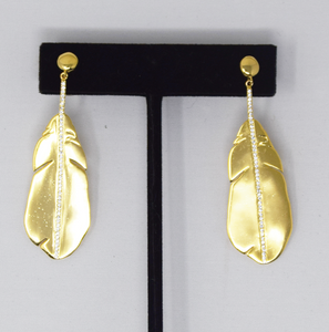 Earrings Gold Leaf