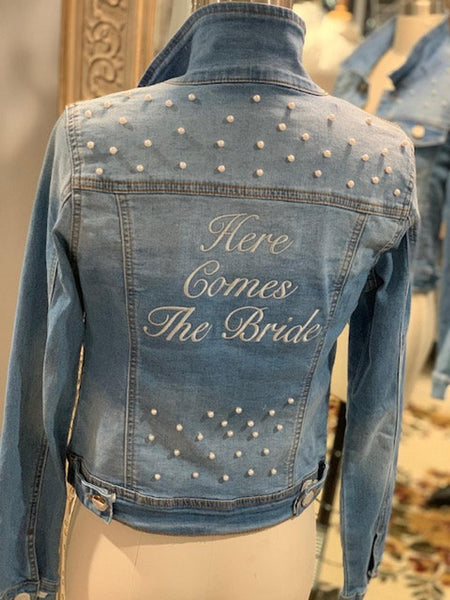Here Comes The Bride Denim Jacket