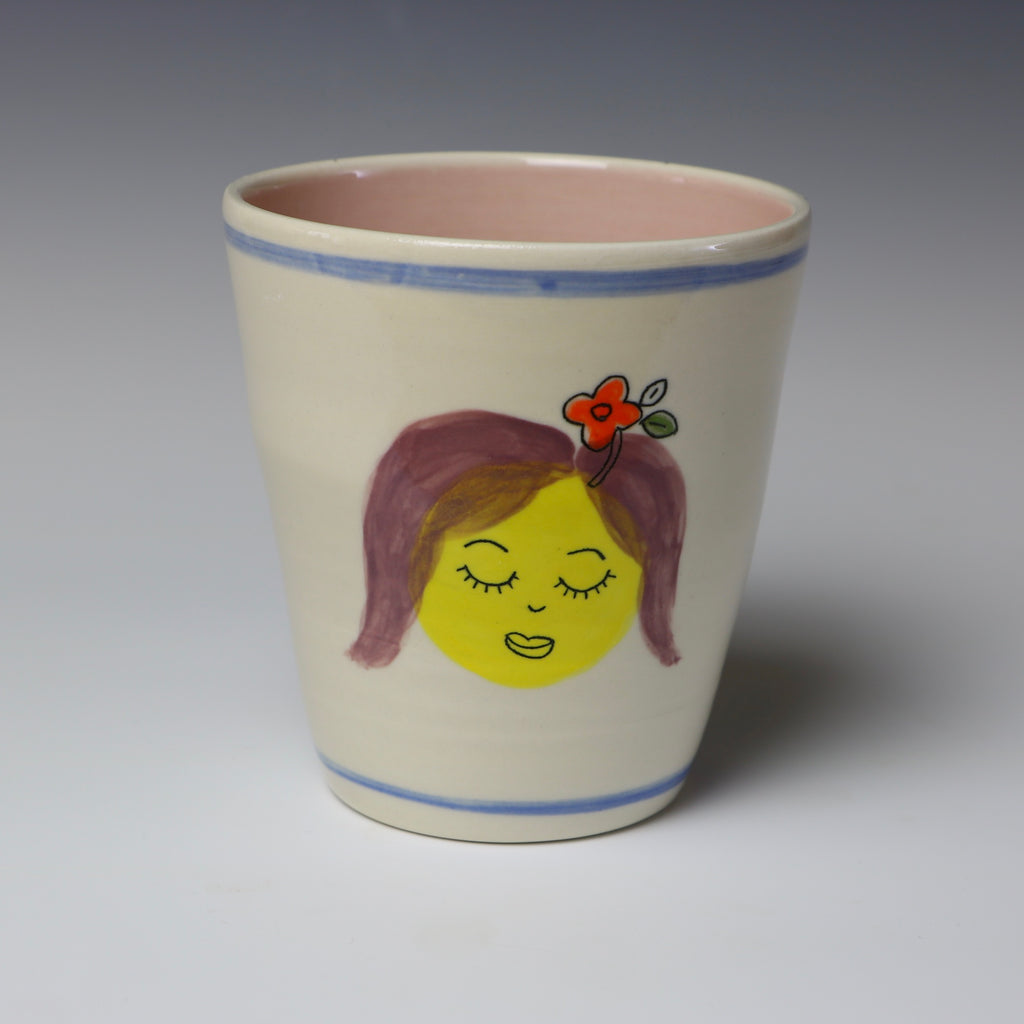 Floating lady head cup - 1