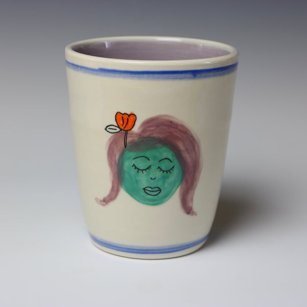Floating lady head cup - 3