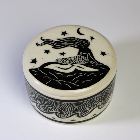 Lidded jar - Mermaid