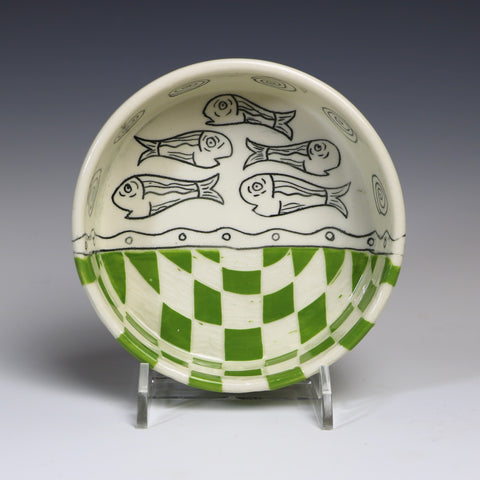 "Pet bowl ""fish–green"""