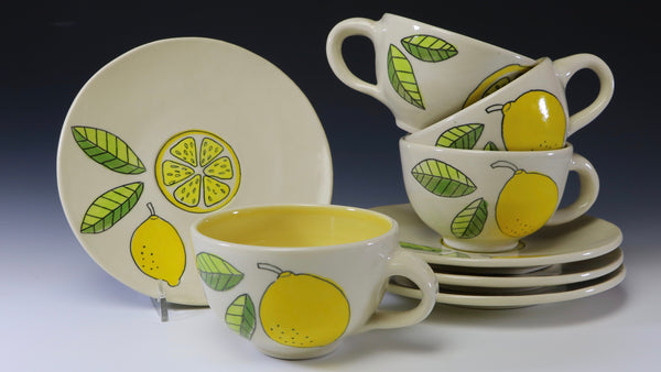 Lemon tea cup/saucer/4