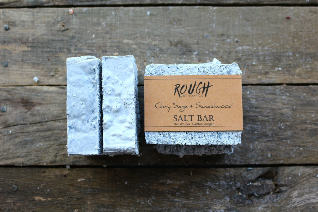Clary Sage & Sandalwood Salt Soap Bar