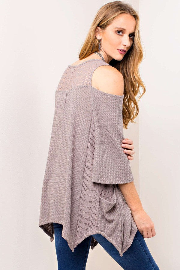 Lovers Ribbed Tunic in Mocha