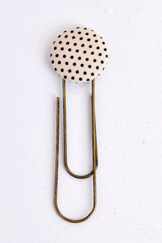 Black and Tan Polka Dot Bookmark {HM}