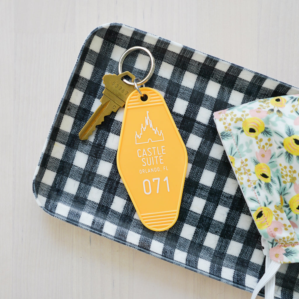 Castle Suite Keychain in Lemon - Happily Ever Tees