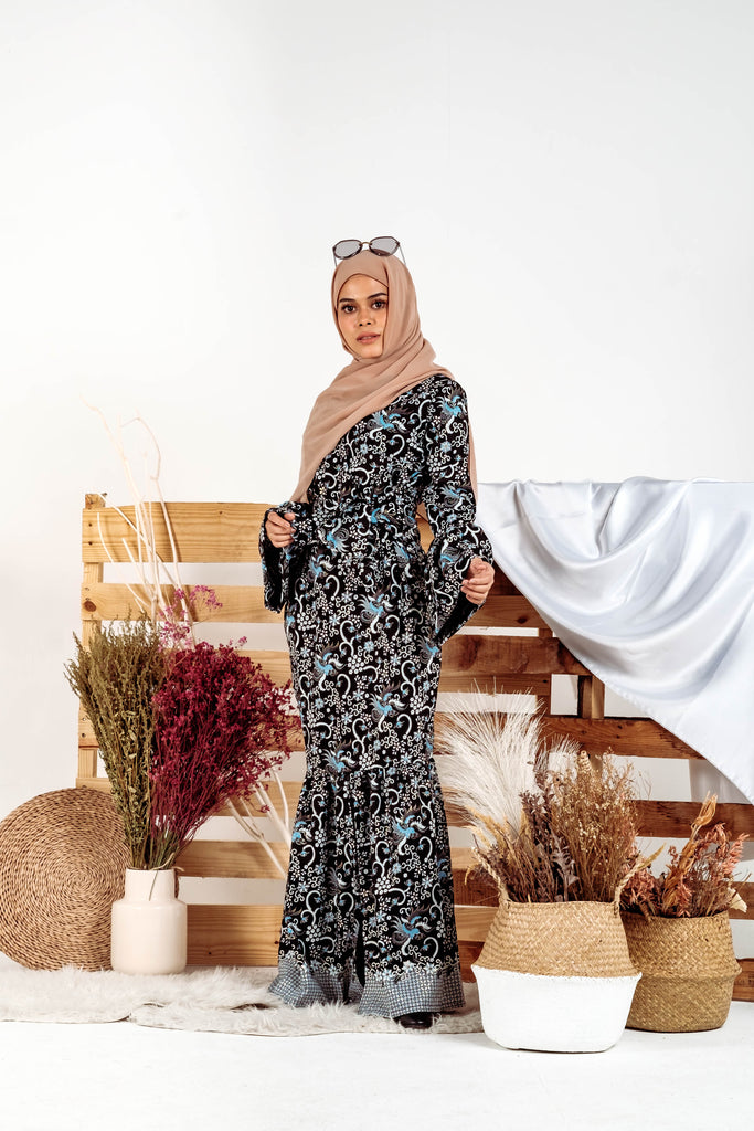 EID EDITION - FALISHA WRAP KIDS [Black Blue Silver]
