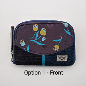 "One of a kind Women's Wallet ""Blue Tulips"""