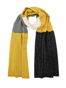 "Casual Blocked Wrap ""Mustard"""