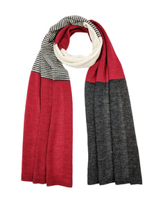 "Casual Blocked Wrap ""Red"""