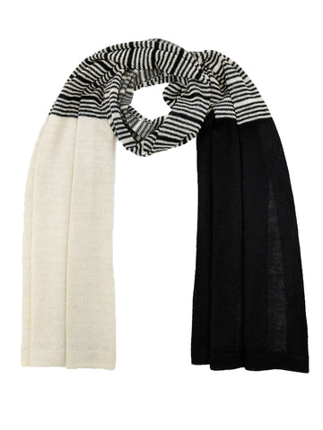 "Casual Striped Wrap ""Black & Ivory"""