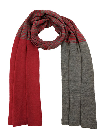 "Casual Striped Wrap ""Coral & Ash"""