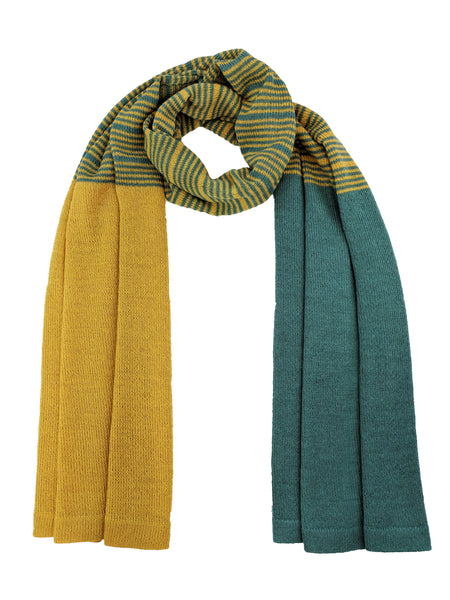 "Casual Striped Wrap ""Jade & Mustard"""