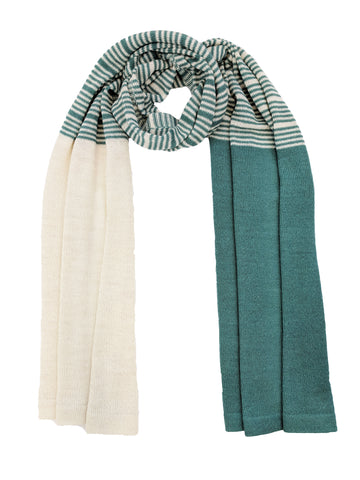 "Casual Striped Wrap ""Jade & Ivory"""