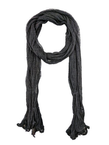 "Simple Scarf ""Charcoal"""
