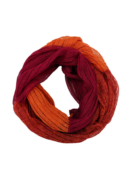 "Infinity Scarf ""Fuchsia & Orange"""