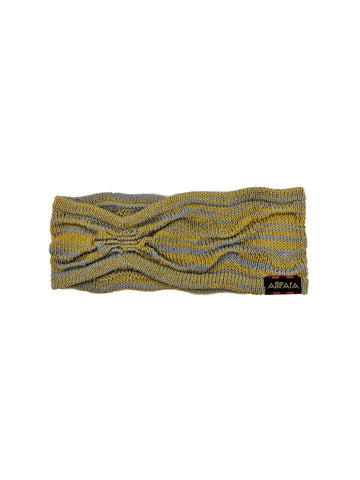 "Headband ""BlueGrey&Mustard"""