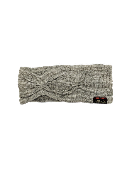 "Headband ""PaleGrey&Ivory"""