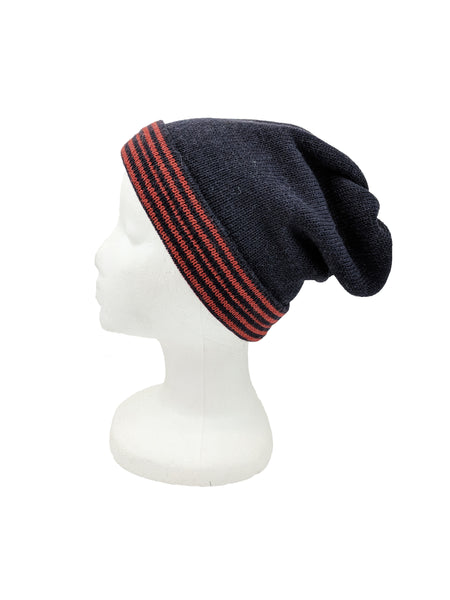 "Neckwarmer ""Navy Blue & Bright Red"""