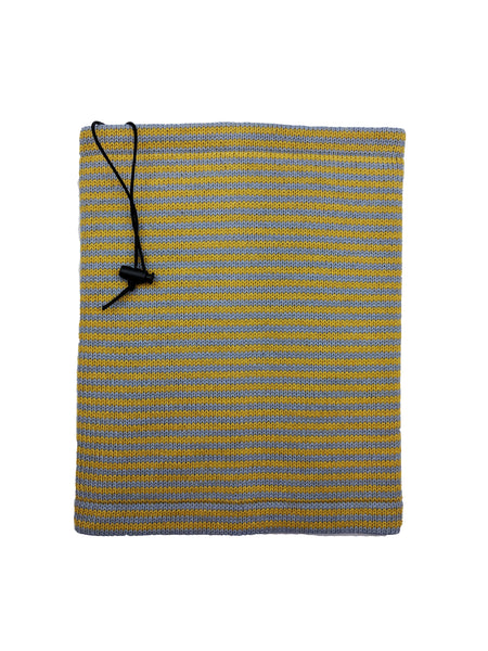 "Neckwarmer ""Blue Grey & Mustard"""