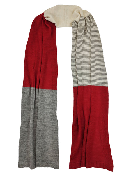 "Casual Blocked Wrap ""Bright Red"""